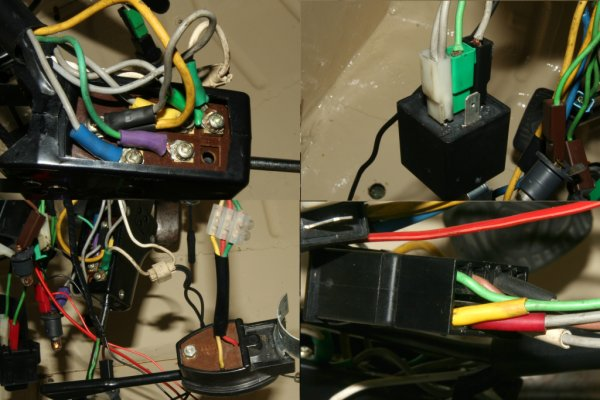 2CV front wiring harness switches