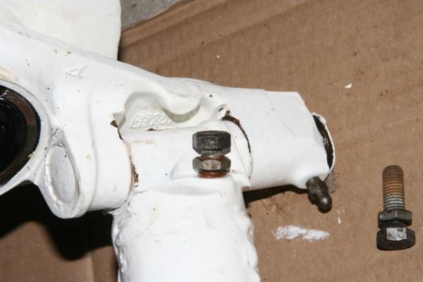 2CV steering lock
